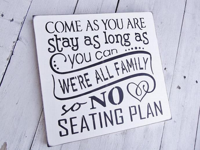Wedding Seating Plan Sign, Seating chart by AndTheSignSays on Zibbet
