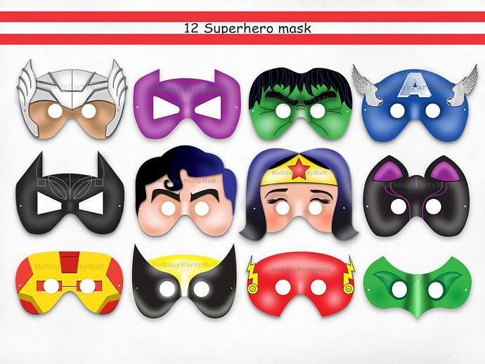 Unique 12 Superhero Party Printable by HolidayPartyStar on Zibbet