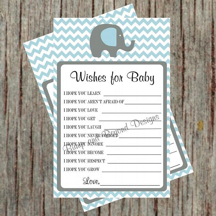 Baby Shower Game Wishes for Baby by bumpandbeyonddesigns on
