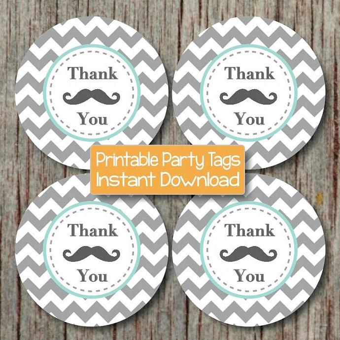Baby Shower Favor Mustache Party by bumpandbeyonddesigns on Zibbet