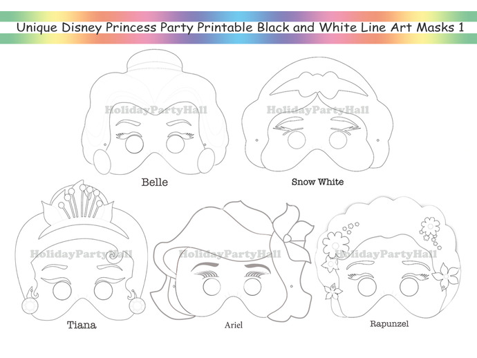 Unique Coloring Pages Disney Princess by HolidayPartyStar on Zibbet