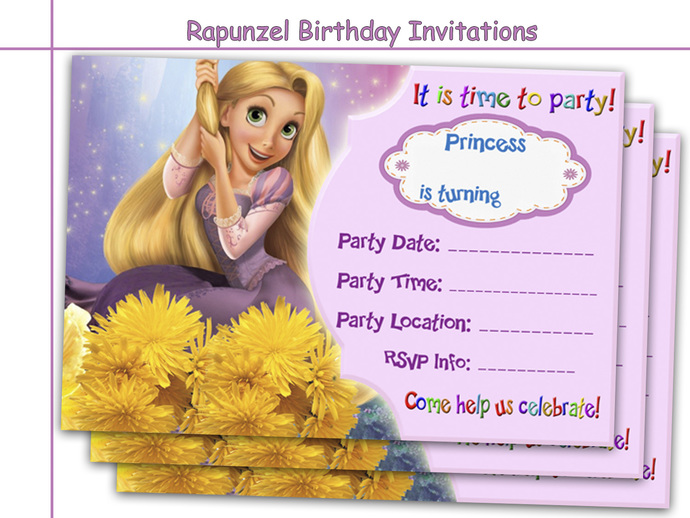 Amazing Rapunzel Birthday Invitations, by HolidayPartyStar on Zibbet