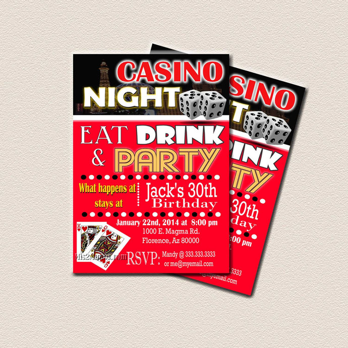 Casino Theme Party, Surprise Birthday Party, by Mis2Manos on Zibbet