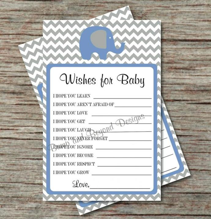 Wishes for Baby Shower Advice Baby by bumpandbeyonddesigns on Zibbet