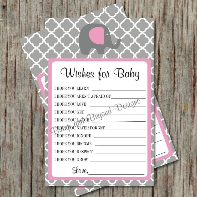 Wishes for Baby Printable Baby Shower by bumpandbeyonddesigns on