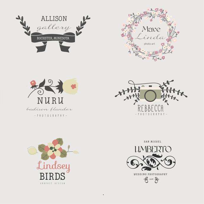 Premade Logo Design - boutique, flower, by CustomWebsite on Zibbet