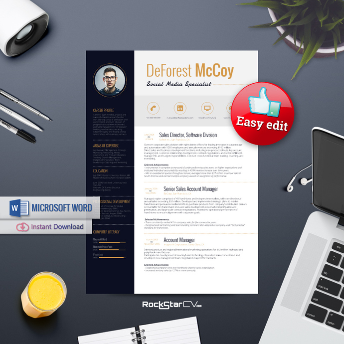 Resume Template Alderamin, Resume by Resume-Templates on Zibbet