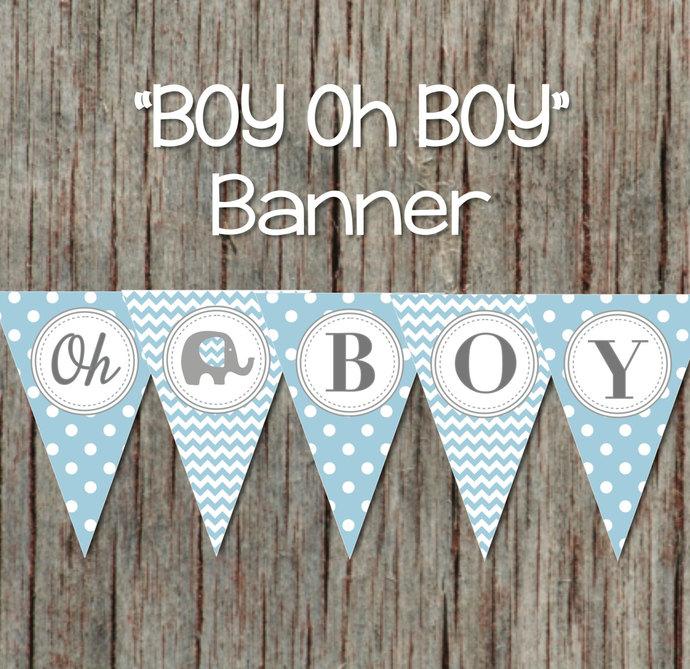 Boy oh Boy Printable Baby Shower by bumpandbeyonddesigns on Zibbet