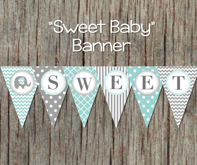 Baby Shower Decorations Printable by bumpandbeyonddesigns on Zibbet