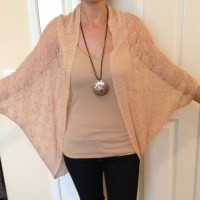 62% off Moth Outerwear - Anthropologie peach knitted shawl ...
