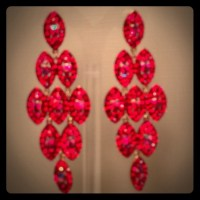 Red AB stone pageant earrings OS from Cuppaken.com's ...
