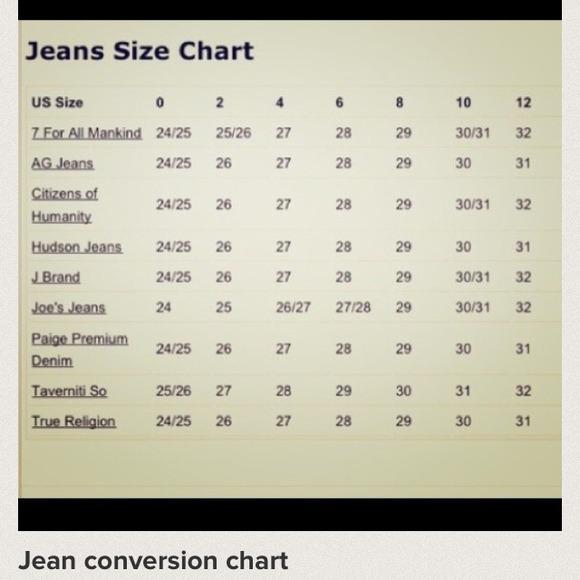 Other Size Chart Poshmark - J Crew Size Chart