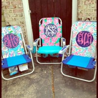 Other | Monogrammed Lilly Pulitzer Beach Chair | Poshmark