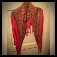 38% off JCPenney Accessories - Large Pink Floral Scarf ...