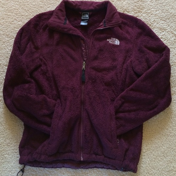 Nike Fleece Parka The North Face Jackets Coats Burgundy Fleece Zipup