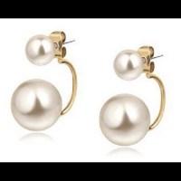 Jewelry | Tribal Pearl Earring Double Pearl Earrings ...