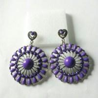 big purple earrings OS from Abbey's closet on Poshmark