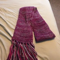 77% off jcpenney Accessories - Purple knit scarf from ...