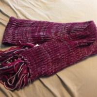 65% off jcpenney Accessories - Purple knit scarf from ...