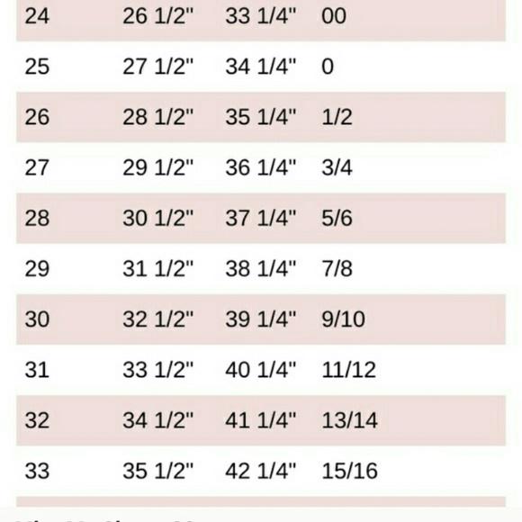Miss Me Pants Size Chart Poshmark