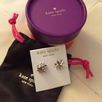 kate spade - Kate Spade Bourgeois Bow Earrings in Silver ...