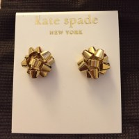 kate spade - Kate Spade Bourgeois Bow Earrings in Gold ...