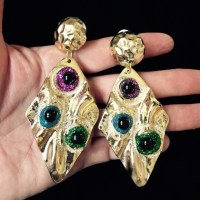 Vintage - Flashy and whimsical vintage earrings from ...