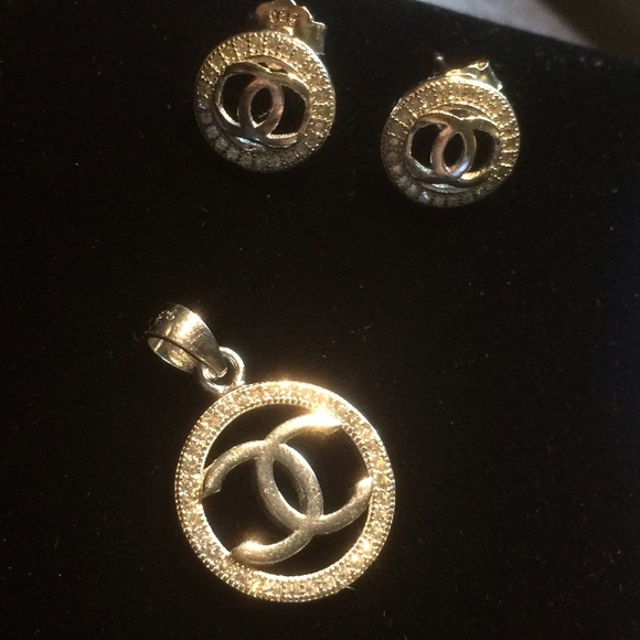 72% off CHANEL Jewelry Authentic Earrings And Necklace Set