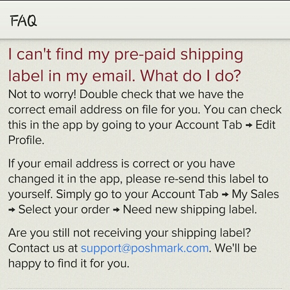 Other How To Reprint Shipping Label Poshmark