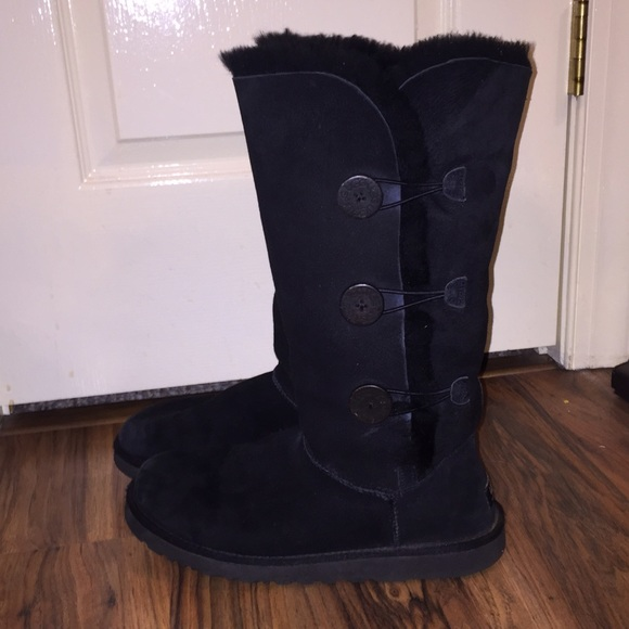 Ugg Shoes Tall Black Bailey Button Triple Boots Poshmark