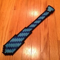 50% off ThinkGeek Accessories - Blue 8-Bit Tie from Hank's ...