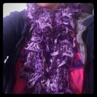 Accessories   Handknitted Purple Movement Scarf   Poshmark