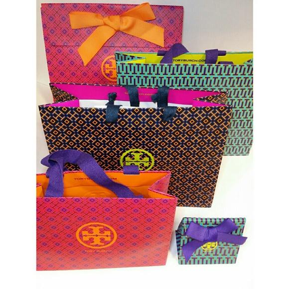 Tory Burch 5 Pc Tory Burch Gift Wrap 3 Shopping Bags 2