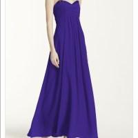 76% off David's Bridal Dresses & Skirts - Purple David's ...