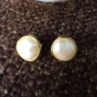 71% off Monet Jewelry - Monet Pearl Disk Clip On Earrings ...