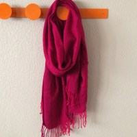 Magenta scarf with fringes! OS from Alicia's closet on ...