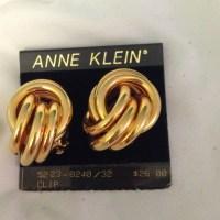 54% off Anne Klein Jewelry - Gold Anne Klein clip on ...