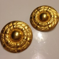 Vintage - VTG Erwin Pearl Gold Statement Earring from ...