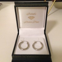 54% off Jewelry - 14k white gold small hoop earrings from ...