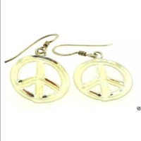68% off Jewelry - Sterling silver peace sign earrings from ...