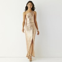 44% off jcpenney Dresses & Skirts - Rose gold Long sparkly ...
