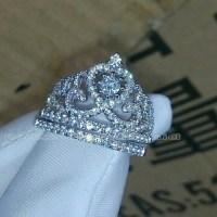 79% off Jewelry - 10k White Gold Topaz Cz Princess Crown ...