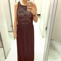 Ross Dresses | Black And Cream Formal Dress With Open Back ...