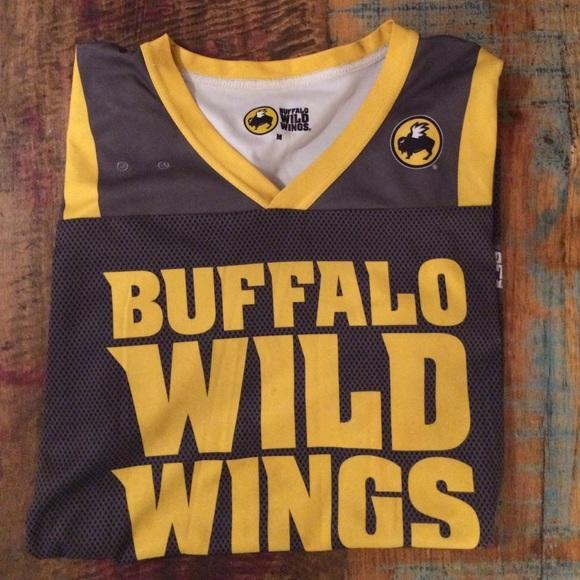 Buffalo Wild Wings Tops Bww Server Jersey Gray Gold M Poshmark