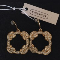 54% off Coach Jewelry - Authentic gold tone coach earrings ...