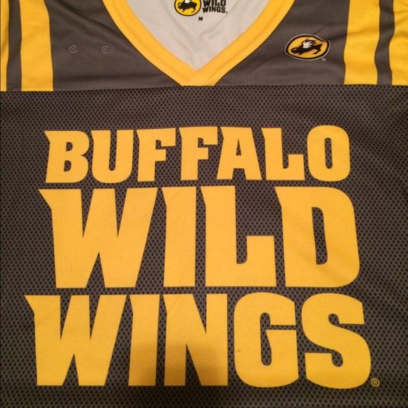 Buffalo Wild Wings Tops Bww Gray Gold Server Jersey Poshmark