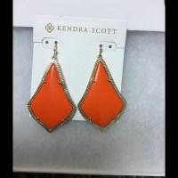 Kendra Scott - Kendra Scott Orange Alexandra Earrings ...
