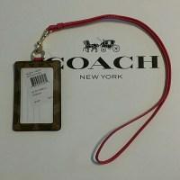 31% off Coach Accessories - Coach lanyard / ID holder nwt ...