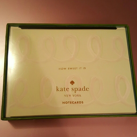 kate spade Accessories 10 Nwt How Sweet It Is Note Cards Poshmark - what size are notecards