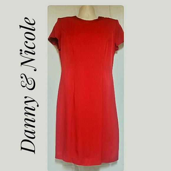 Danny  Nicole Dresses Danny Nicole Red Sheath Dress Size 8 Poshmark